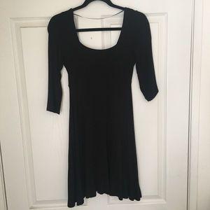 Black Flowy Mini Dress